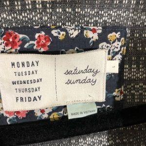 Anthropologie Sweaters - Saturday Sunday anthro grey & white jacket sz. L